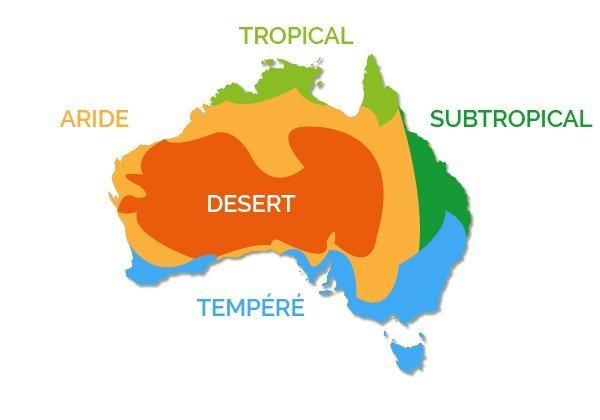 Carte Noel Australie.Le Climat Et Les Temperatures En Australie Go Study Australia