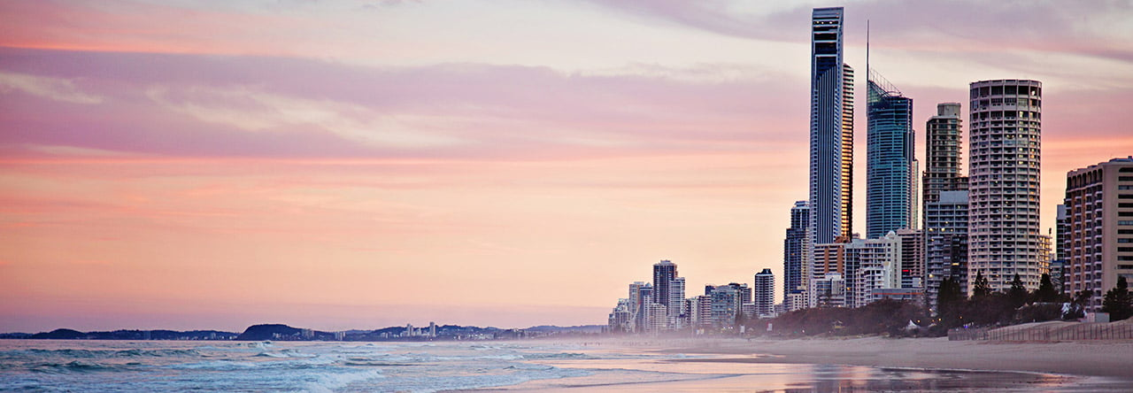 vue sur la gold coast